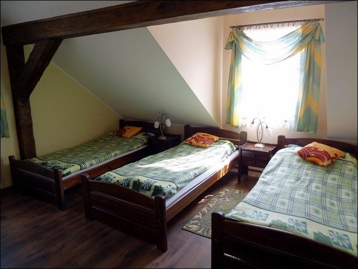 Jedna z trzech sypialni