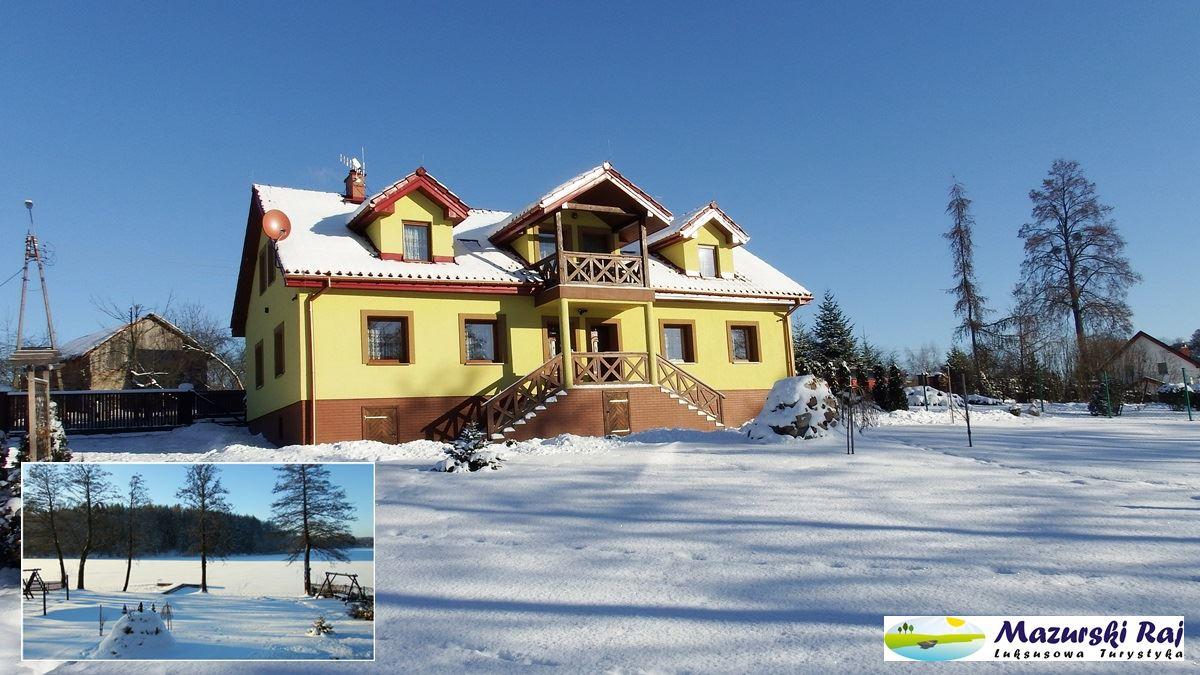 Mazurski Raj to dom z dwoma apartamentami nad jeziorem, Mazury